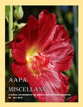 July 2016 AAPA Miscellany