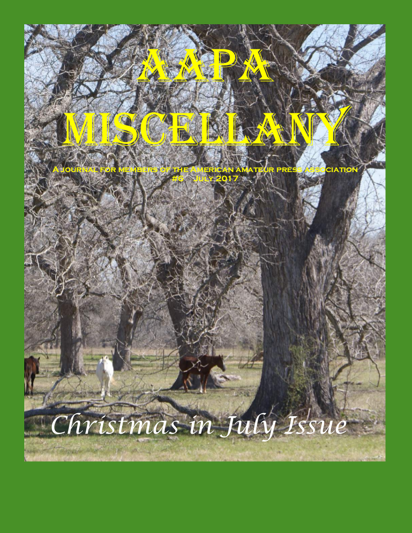 July 2017 AAPA Miscellany